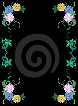 Frame Of Flowers And Leave Royalty Free Stock Photography - Image: 15267177