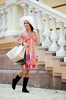 Woman With Shopping Bags Stock Photo - Image: 15267430