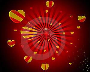 Abstract Heart Background Royalty Free Stock Photography - Image: 15267957