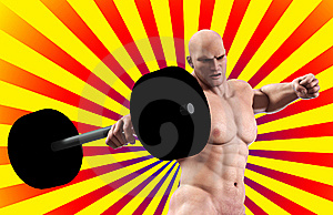 Strong Man Lifting Weight Royalty Free Stock Photography - Image: 15268277
