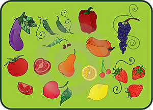 Fruits_and_vegetables Stock Photos - Image: 15268363