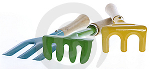Three Colorful Hand Garden Tools Stock Photos - Image: 15268743