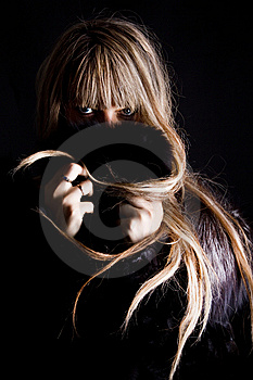 Woman With Coat Royalty Free Stock Photos - Image: 15274098