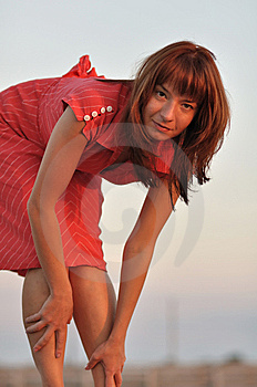 Girl In Red Dress Stock Image - Image: 15274321