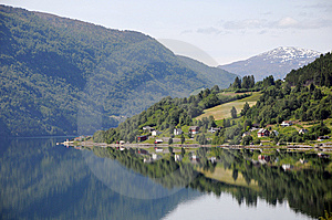 Reflections In Nordfjord From Loen Stock Images - Image: 15276604