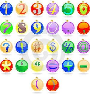 New Year Balls With Numbers Stock Photo - Image: 15277930