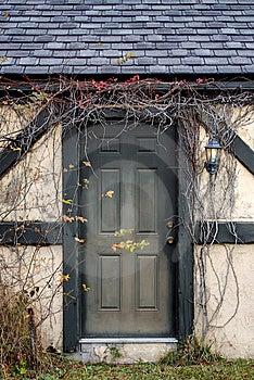 Vine Covered Doorway Stock Image - Image: 15281571