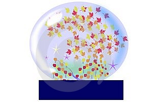 Autumn Water Globe Royalty Free Stock Photo - Image: 15282345