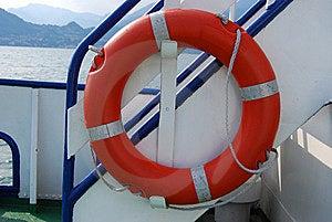 Orange Lifebuoy Ring On A Ship Royalty Free Stock Image - Image: 15282396
