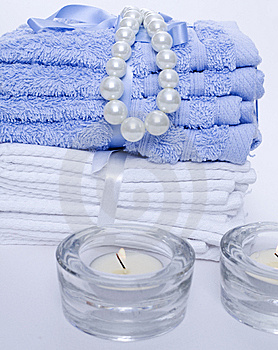Spa Towels And Candles Royalty Free Stock Images - Image: 15282519