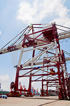 Crane & Cargo Containers Stock Photos - Image: 15283143