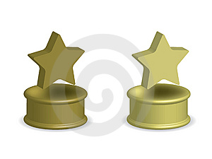 Gold Star Award Stock Image - Image: 15285261