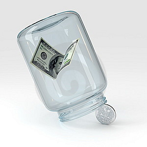 Glass And Money Stock Photos - Image: 15286023