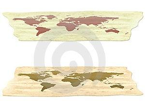 Old World Map Stock Image - Image: 15288411