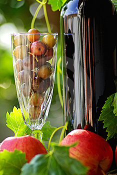 Red Wine And Fruits Stock Photo - Image: 15290110