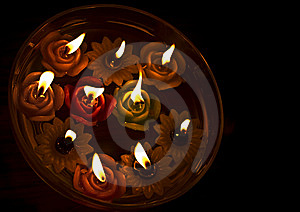 Floating Candles Royalty Free Stock Image - Image: 15291846