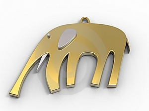 Elephant Golden Jewel Stock Photography - Image: 15292442
