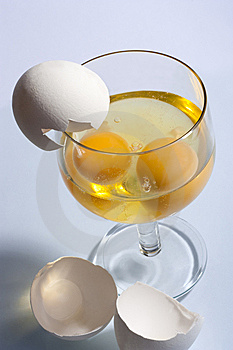 Eggs In A Glass Royalty Free Stock Photos - Image: 15294268