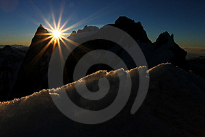 Sunrise In The Mountains Stock Images - Image: 15294764