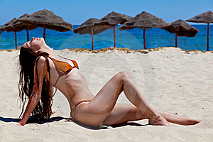 Beautiful Girl On Beach Stock Images - Image: 15295034
