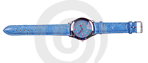 Blue Hand Watch Royalty Free Stock Photos - Image: 15296038