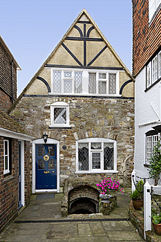 Quaint Old House With A Cubby Hole Royalty Free Stock Image - Image: 15297136