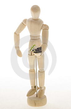 Mannequin Holding Plant Seedling Royalty Free Stock Photos - Image: 15298308