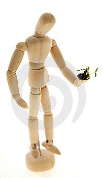 Mannequin Holding Plant Seedling Stock Image - Image: 15298311