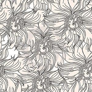 Floral Seamless Wallpaper Stock Photos - Image: 15299573
