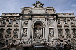Trevi Fountain In Rome City Royalty Free Stock Image - Image: 15299786
