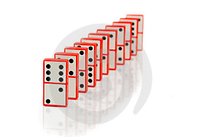 Domino Stock Photo - Image: 1530380