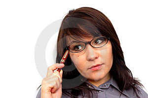 Businesswoman With Pen #7 Stock Photography - Image: 1530592