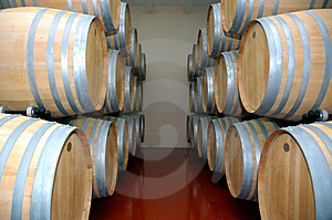 Wine Barrels 2 Stock Photo
