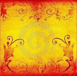 Floral Artístico Do Grunge Foto de Stock Royalty Free - Imagem: 1532735