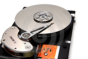 Disk Drive On White Background Royalty Free Stock Photography - Image: 1534827