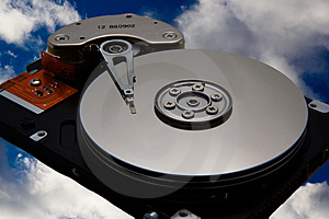 Diskdrive In De Hemel Royalty-vrije Stock Foto - Afbeelding: 1534855
