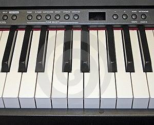 Electronic Piano Keyboard Royalty Free Stock Image - Image: 1534886