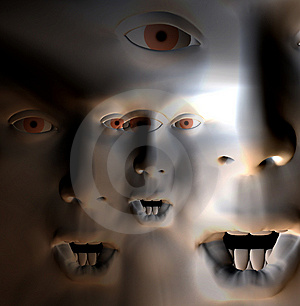 Horror Face 6 Stock Images - Image: 1535464