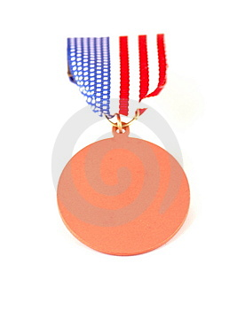 American Flag Medal Royalty Free Stock Photography - Image: 1536127