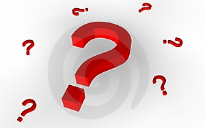 Question Marks (Red) Royalty Free Stock Image - Image: 15302626