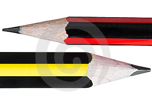 Close Up Of Two Pencils Isolated On White Stock Images - Image: 15303314