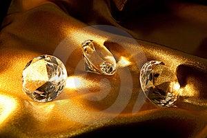 Diamond On Satin Fabric Stock Photos - Image: 15303433