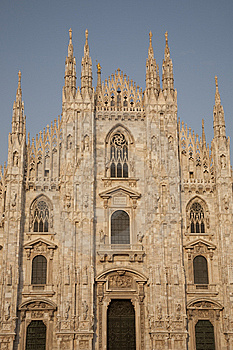 Facade Of The Duomo Cathedral, Milan Royalty Free Stock Image - Image: 15304366