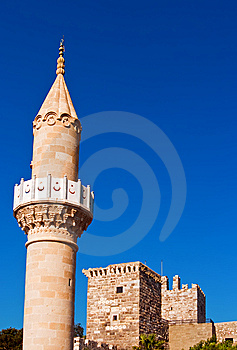 Medeival Tower And Mosque In St. Peter's Castle Stock Image - Image: 15304611