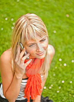 Young Woman With Mobile Phone Stock Image - Image: 15305041