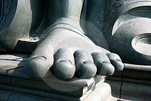Thiruvalluvar's Feet On Island Near Kanyakuma Stock Photography - Image: 15306942