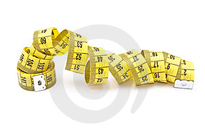 Curled Yellow Measuring Tape Royalty Free Stock Photos - Image: 15307288