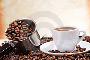 Silver Pot And Cup Stock Photos - Image: 15308733