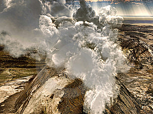 Volcanic Eruptions Royalty Free Stock Photo - Image: 15310745