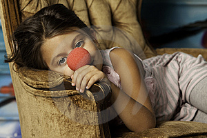 Girl In Chair Stock Image - Image: 15312211